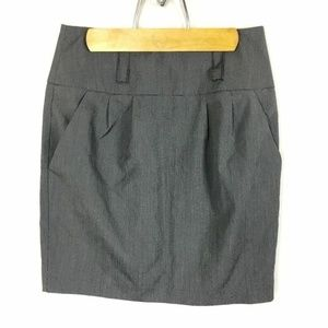 (R-11) A Byer Juniors Sz 7 Gray Pencil Skirt